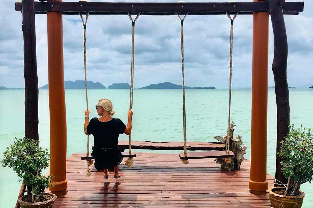 Old Town Koh Lanta, swings over the sea
