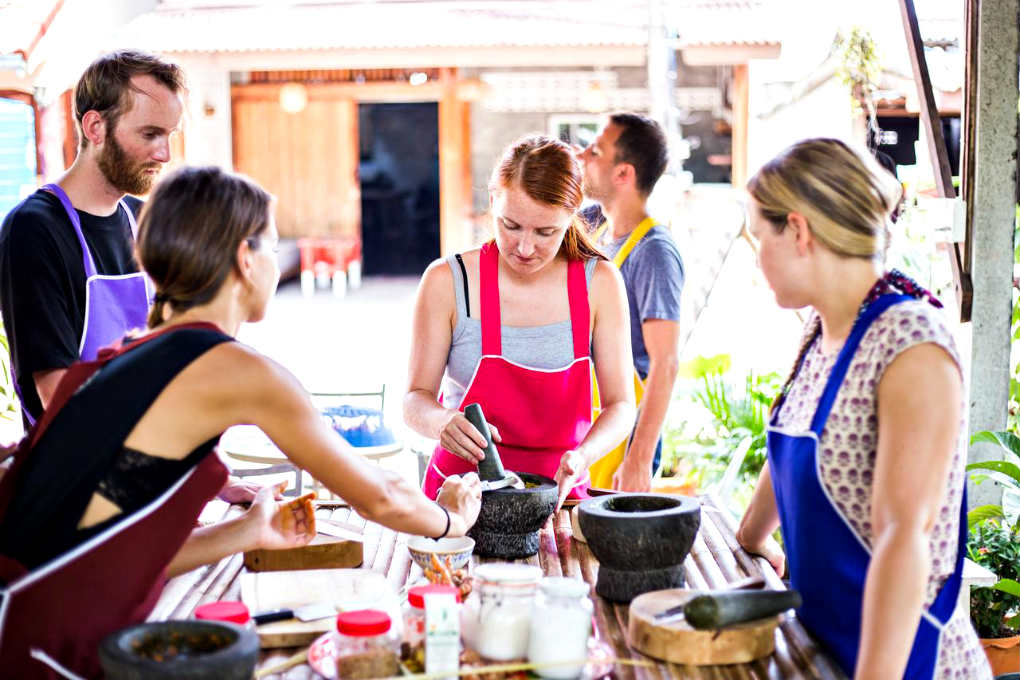 People Who Take Cooking Lessons In Old Town Koh Lanta