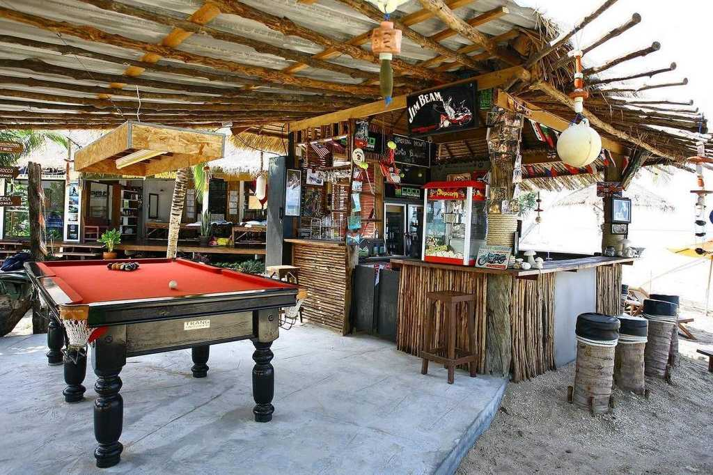 Pool table and bar at Coco Lanta Eco Resort, Best mid-range hotels on Koh Lanta