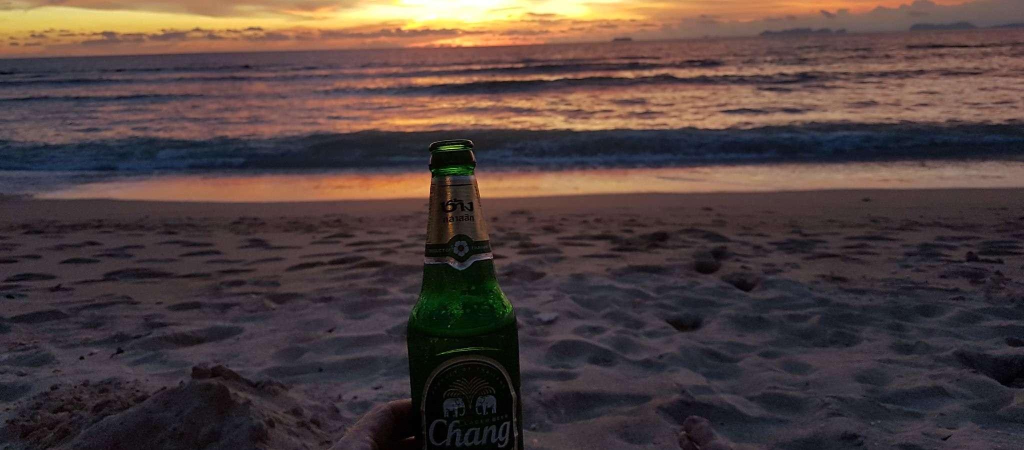 Beer on the beach of Koh Lanta