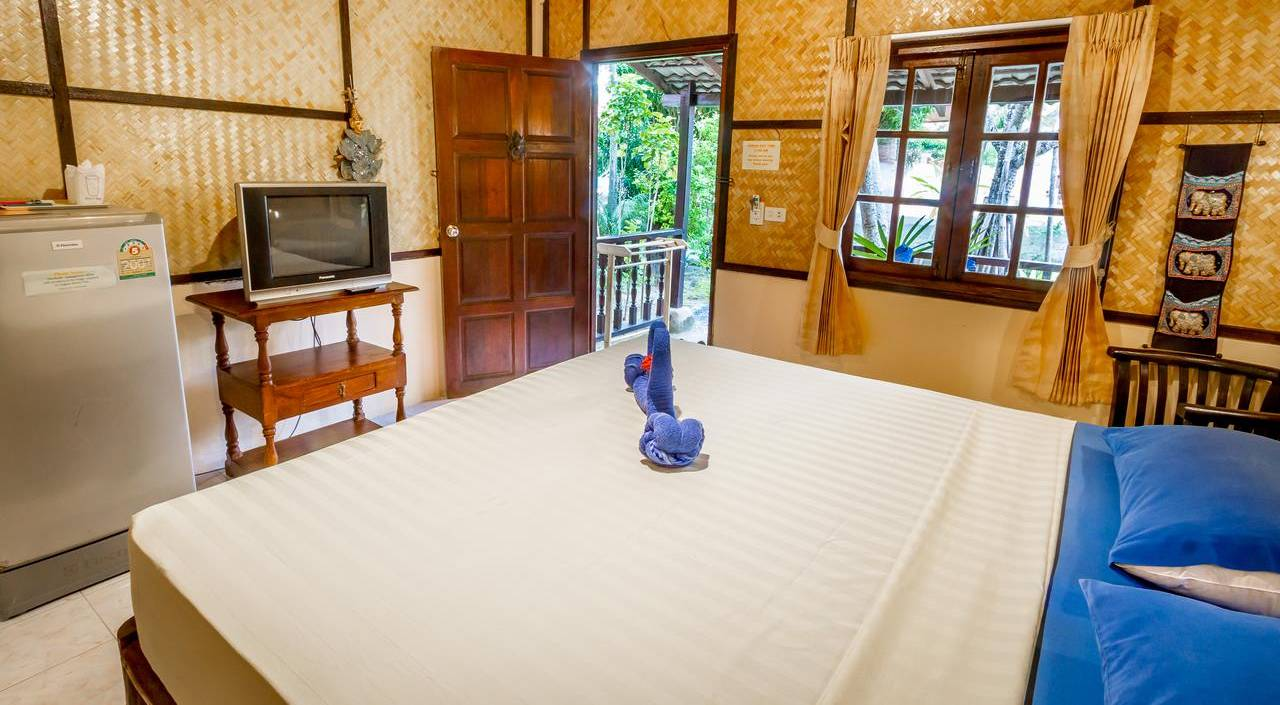 Bedroom at the Laguna Beach Club Resort, one of the best mid-range hotels on Koh Lanta