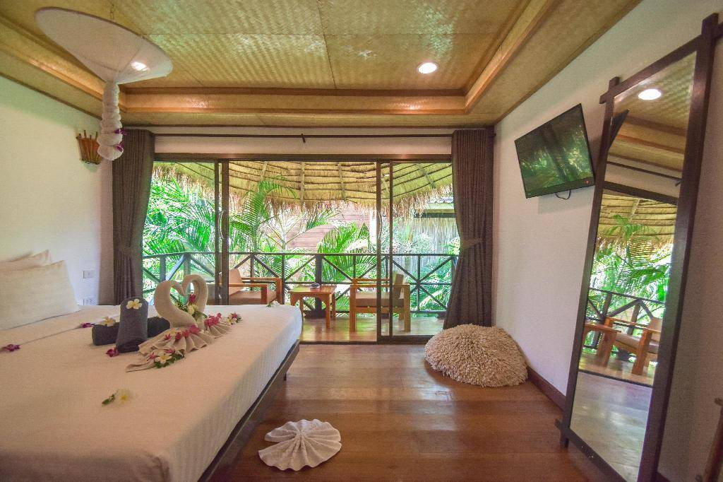 A room at Long Beach Chalet, one of the best mid-range hotels in Koh Lanta