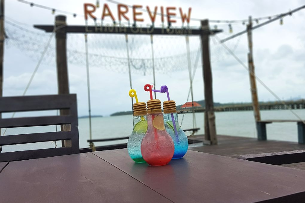 Italian Soda in three different flavours at Rareview in Koh Lanta's Old Town, one of the best restaurants on koh lanta!