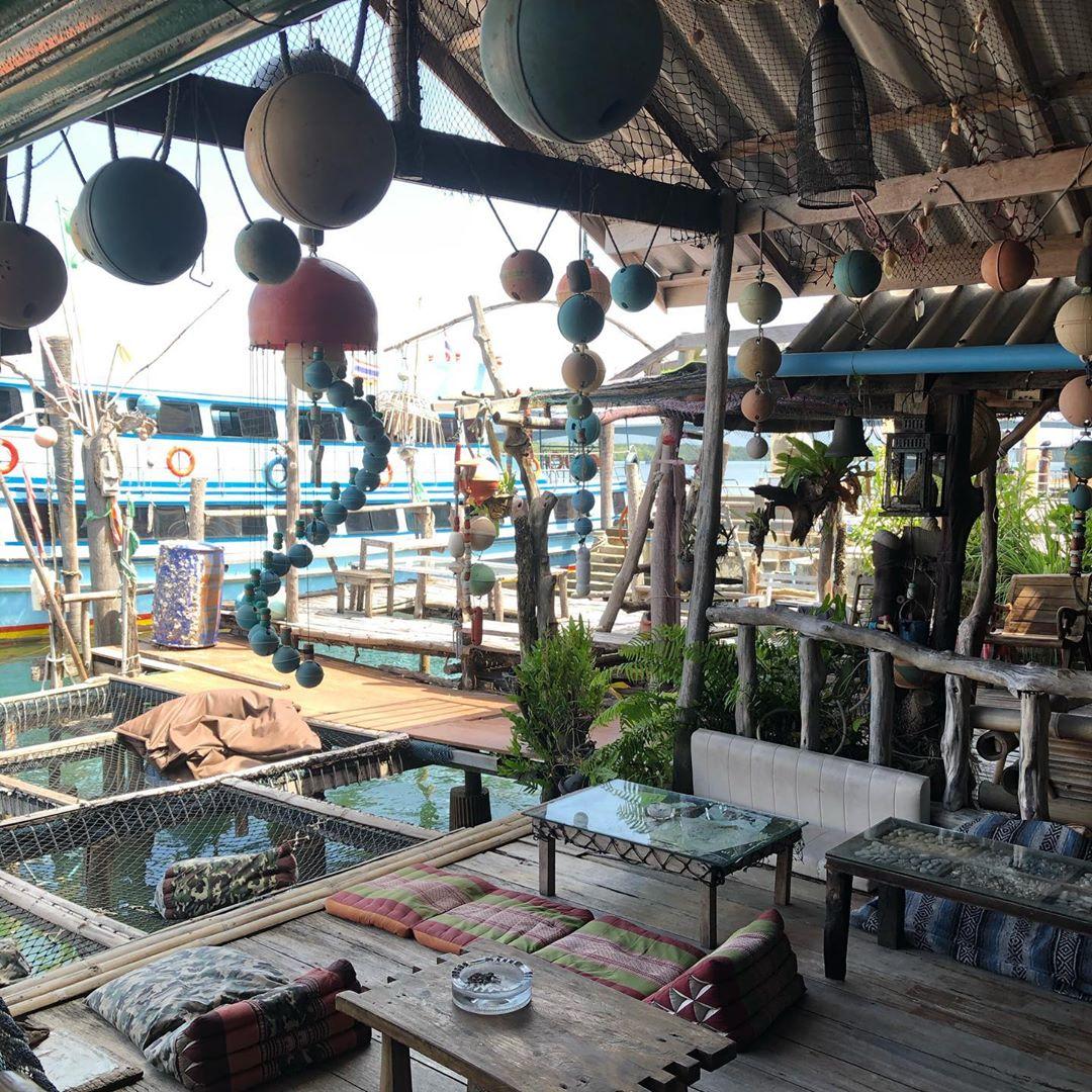 Leuke restaurantjes aan het water bij Saladan Koh Lanta