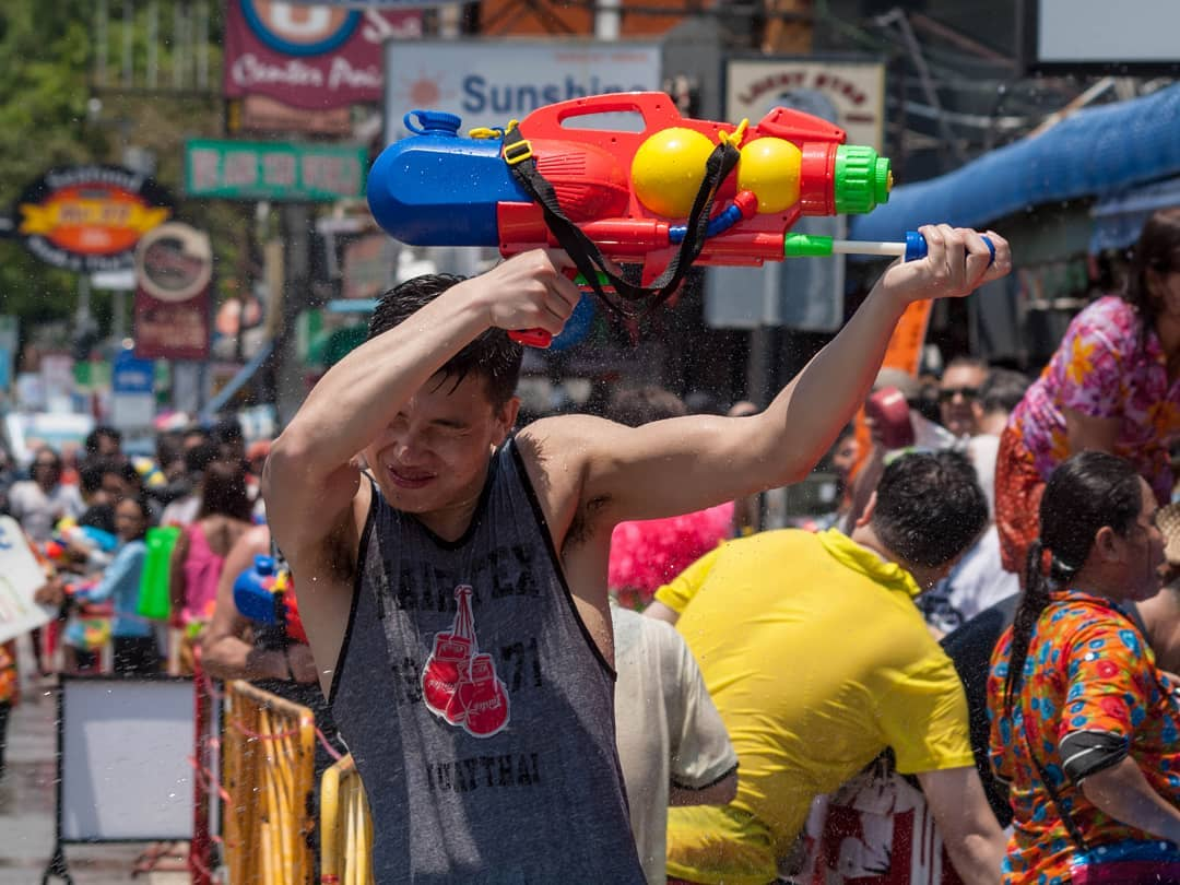 Songkran on 13 April in Thailand