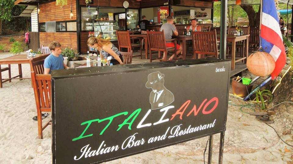 Italiano Restaurant bij Coral Garden op Koh Kradan