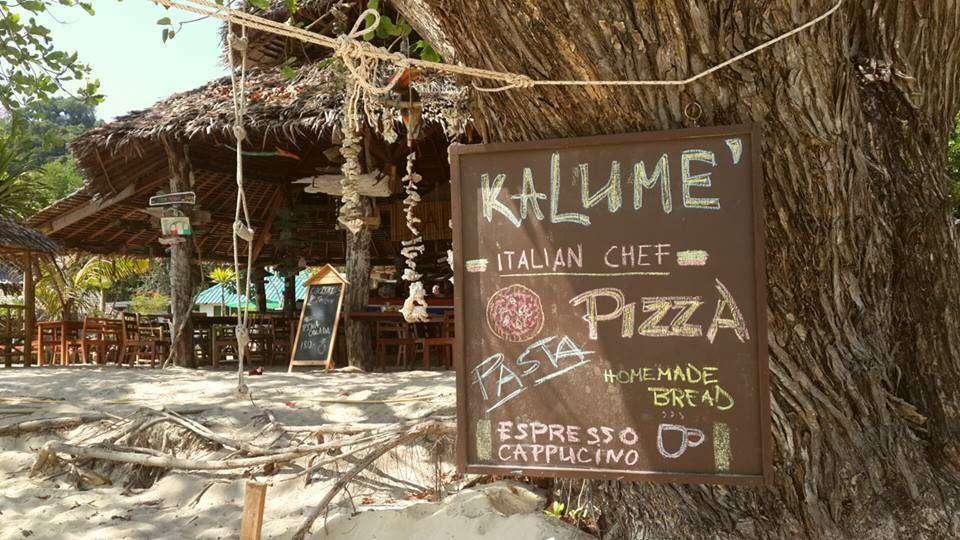 Restaurant & Bar bij Kalume' op Koh Kradan