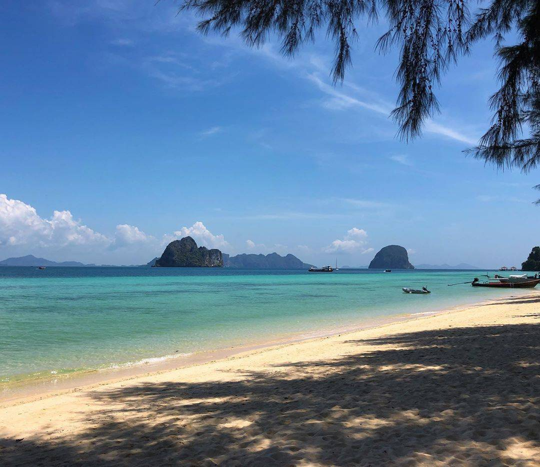 View from the main beach on Koh Ngai