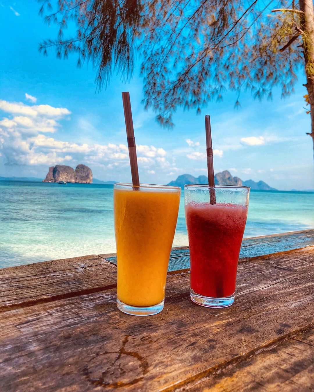 Verkoelende drankjes op Koh Ngai