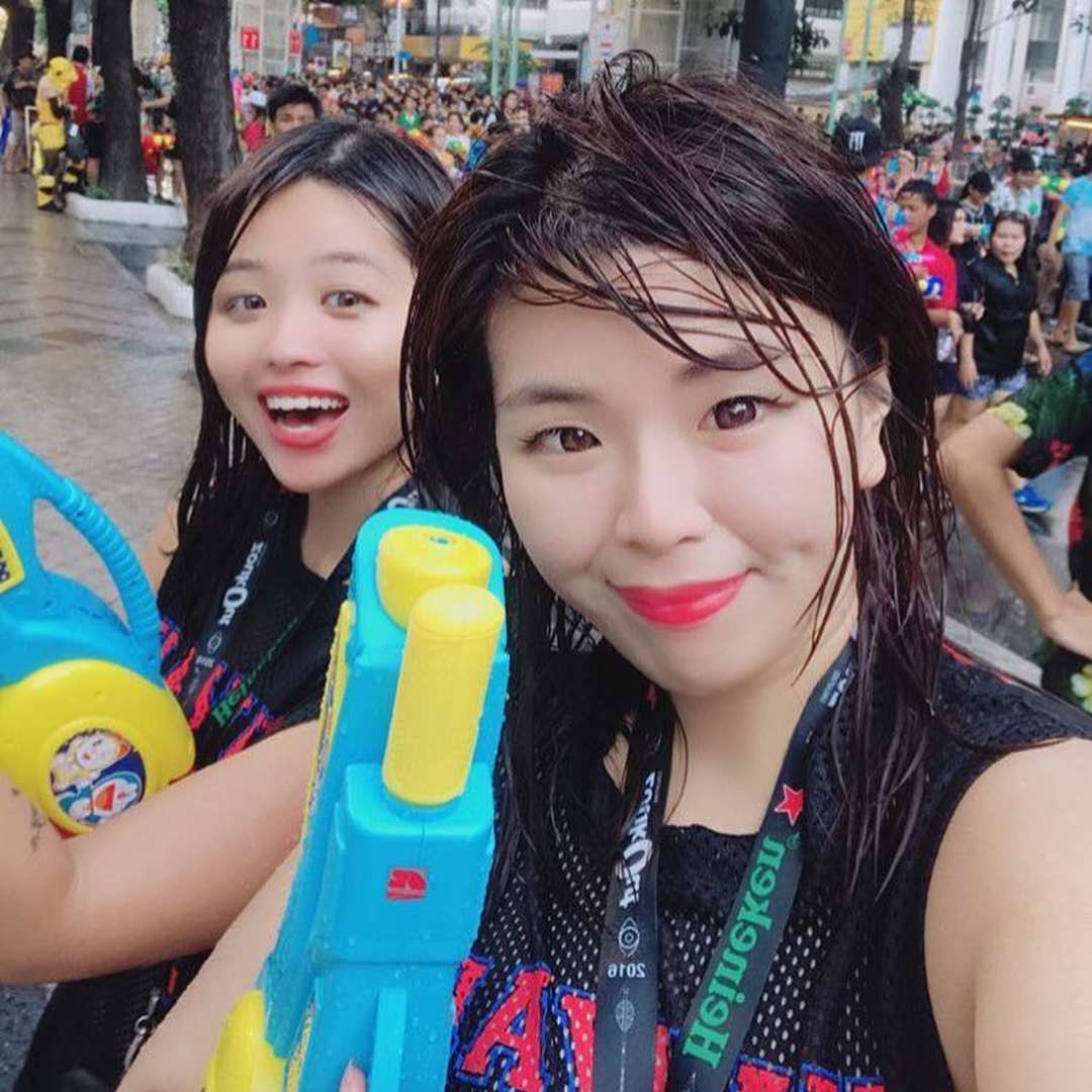 Two girls on Songkran