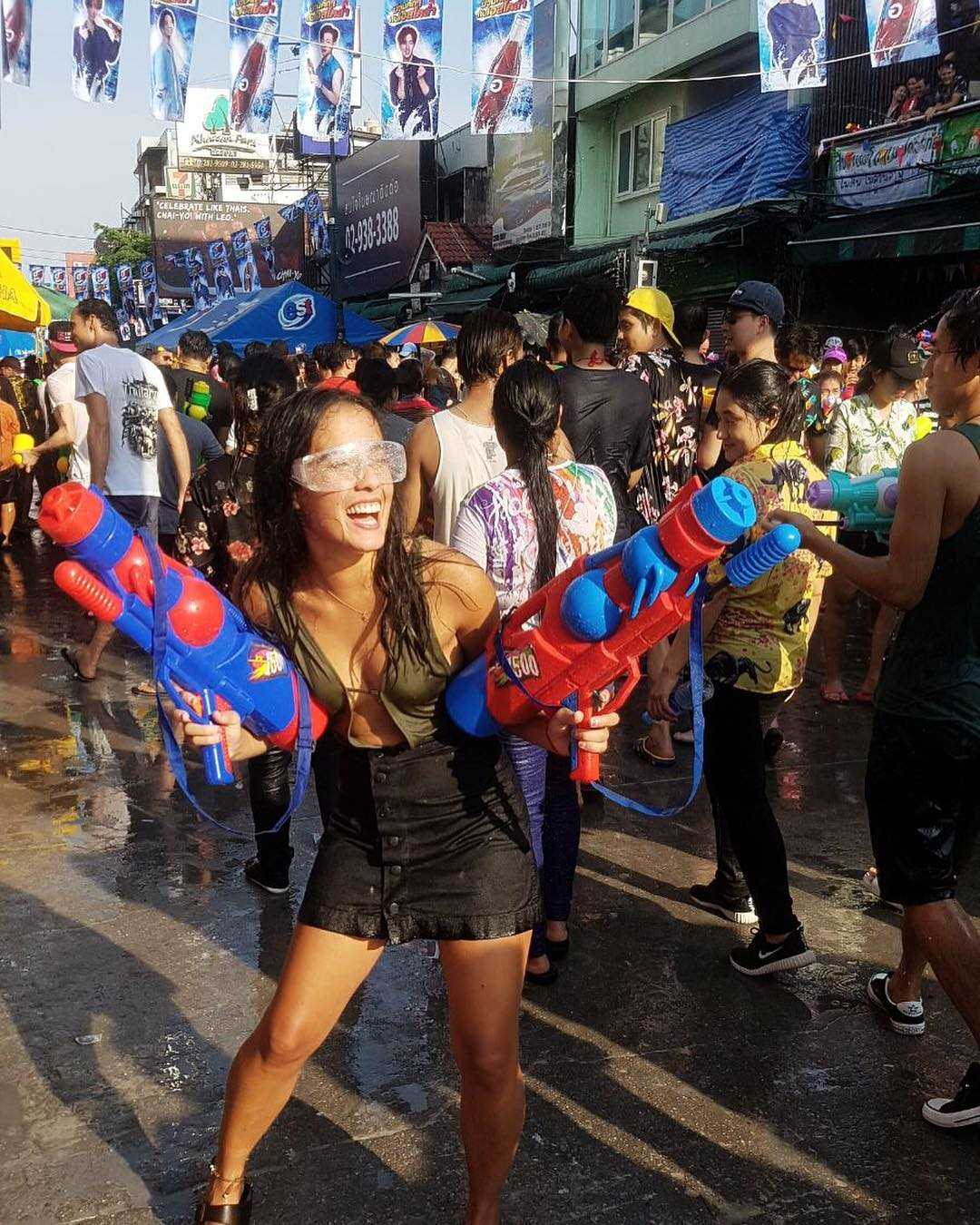 Fun at Songkran in Thailand