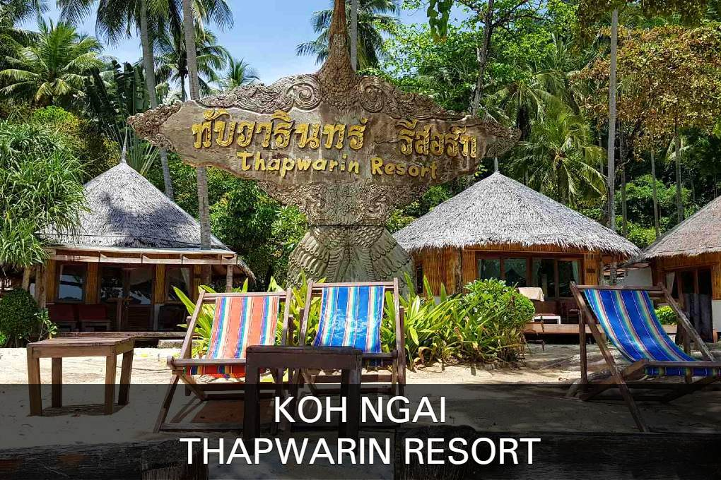 Luxury hotel Koh Ngai Thapwarin Resort