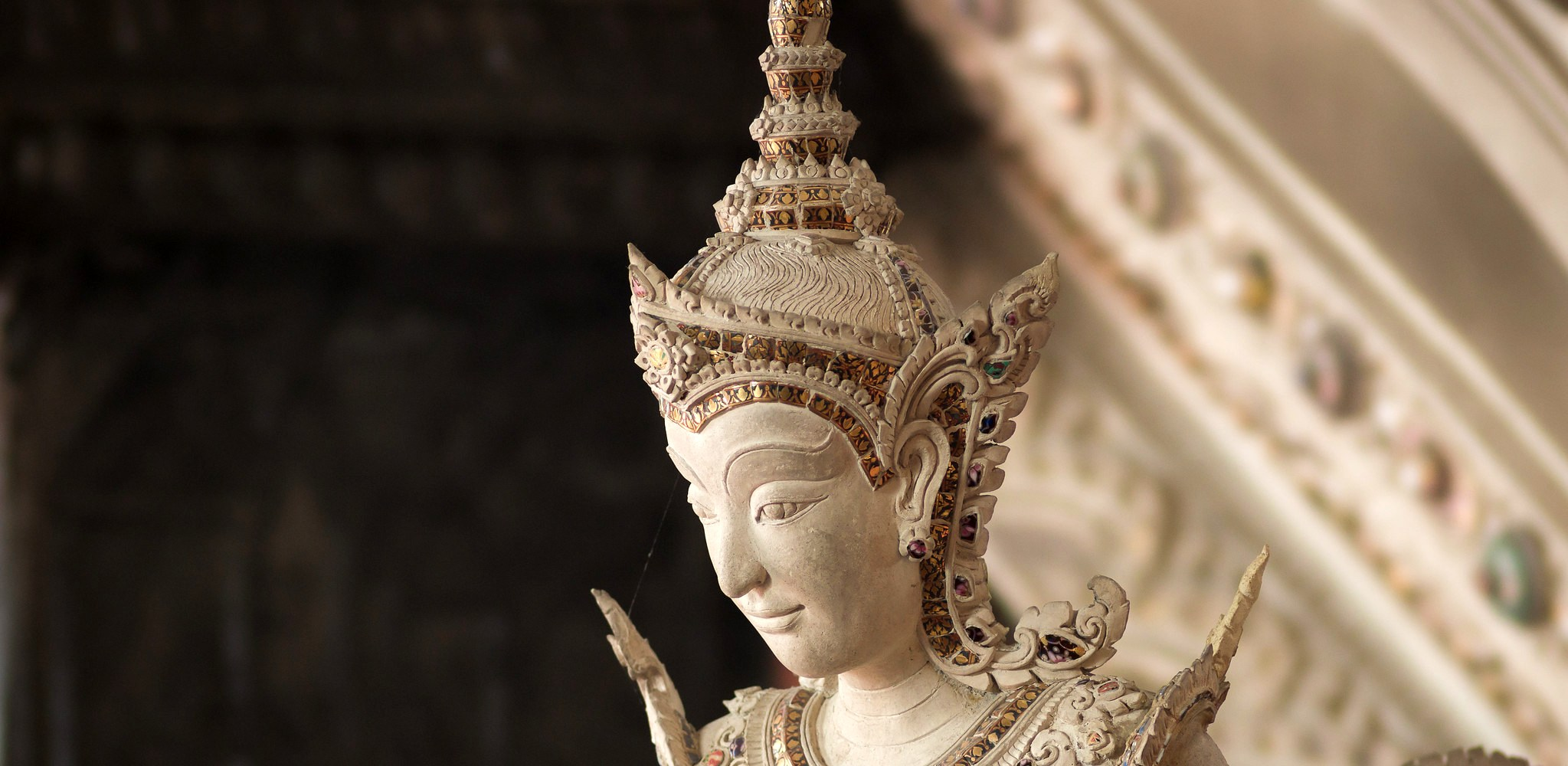 Sculpture in a museum in Bangkok