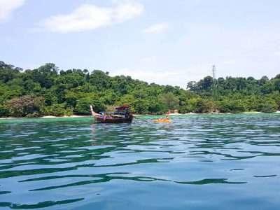 Bijna Aangekomen Op Koh Kradan In Het Zuiden Van Thailand