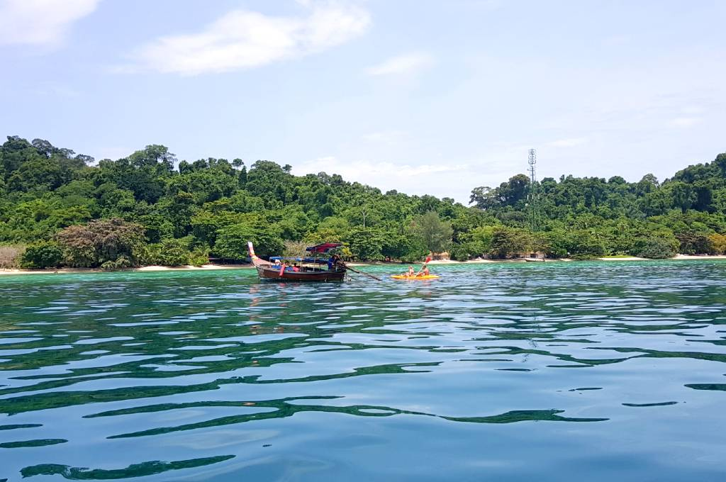 Almost arrived on Koh Kradan in the south of Thailand