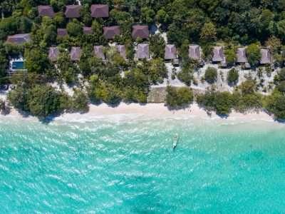 Het Terrein Van The Sevenseas Resort Op Koh Kradan Gezien Vanaf Een Drone