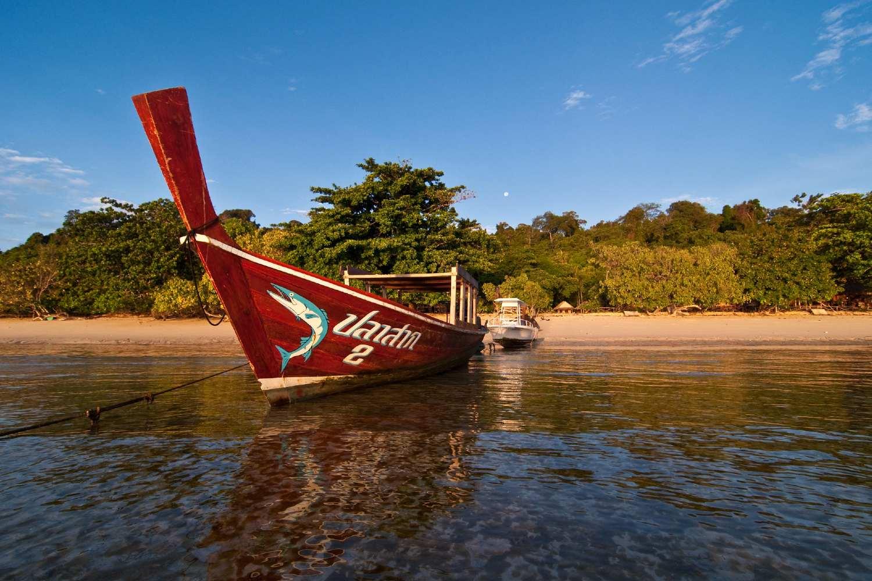 Longtail boat off the coast of Koh Kradan