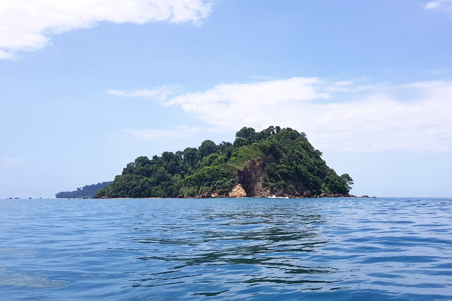 the small island of Koh Kradan in the Andaman Sea of Thailand
