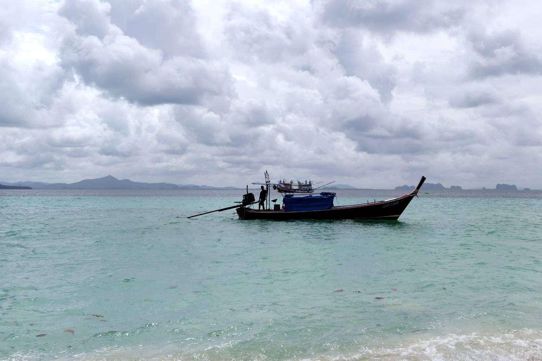 Rain season on Koh Kradan in Thailand