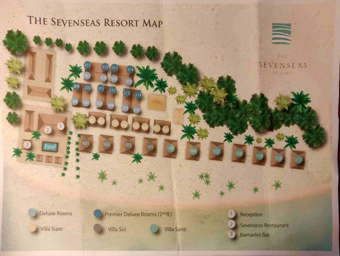 The Sevenseas Resort plattegrond van het terrein