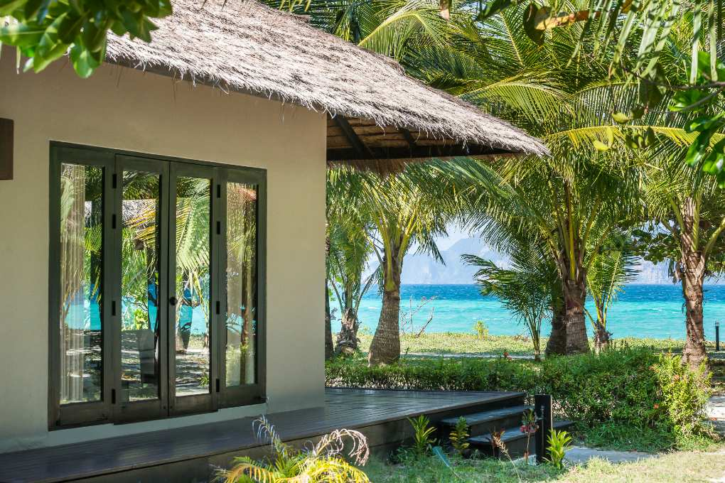 The Santi Villa with sea view from The Sevenseas Resort on Koh Kradan