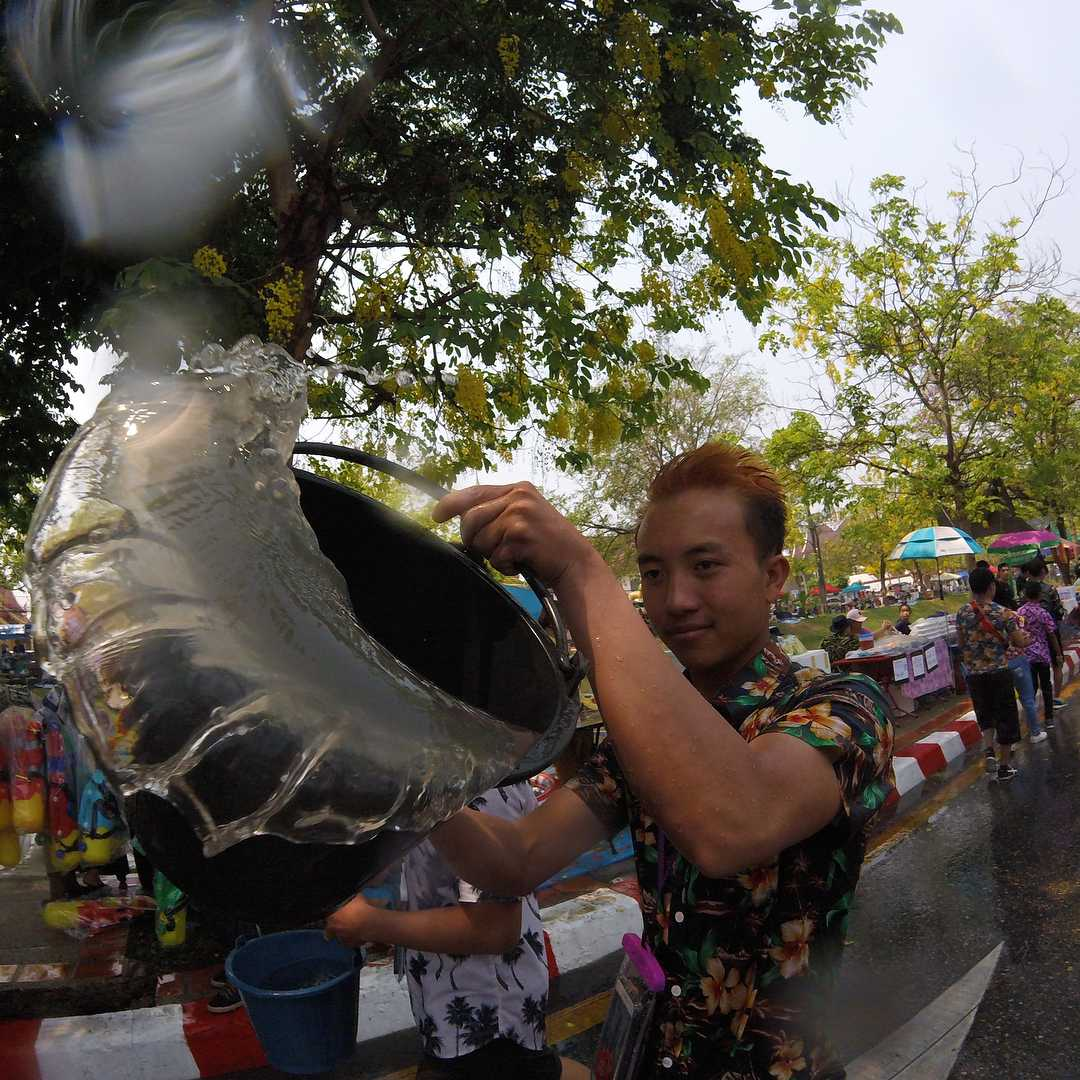 The full load at songkran in Thailand