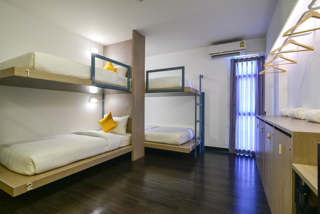 Dormitory for four in Wake Up Ao Nang (one of the best hotels in Ao Nang)