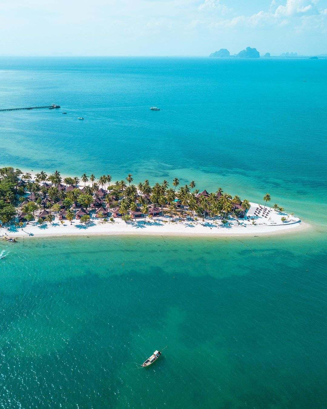 Sivalai Beach on Koh Mook photographed with a drone