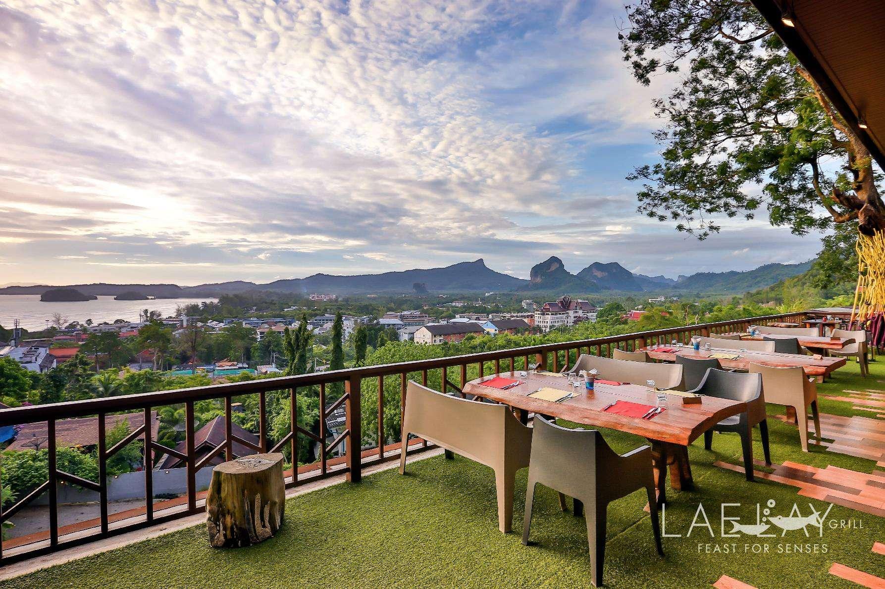 Uitzicht vanaf Lae Lay Grill (een van de beste restaurants van Ao Nang)