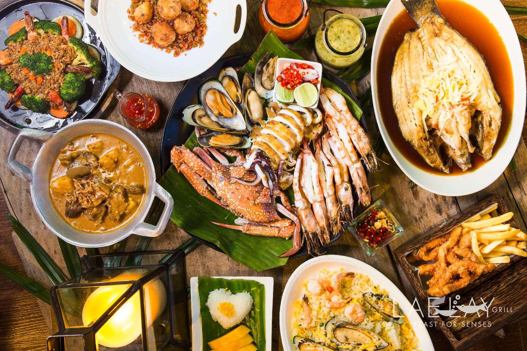 Verschillende gerechten bij Lae Lay Grill (een van de beste restaurants van Ao Nang)