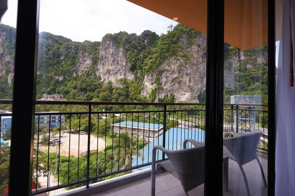 Balcony of a room at the Sea Seeker Krabi Resort (one of the best hotels in Ao Nang)