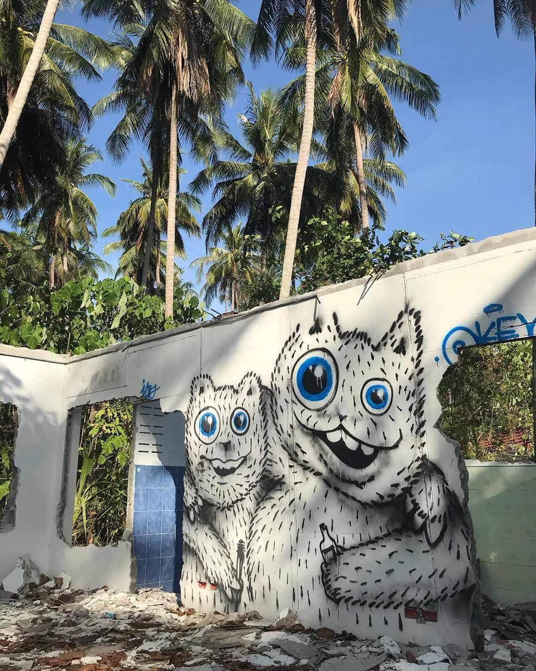 Streetart op Koh Mook