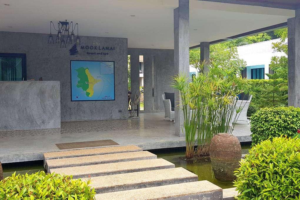 Lobby with pond, MookLamai Resort