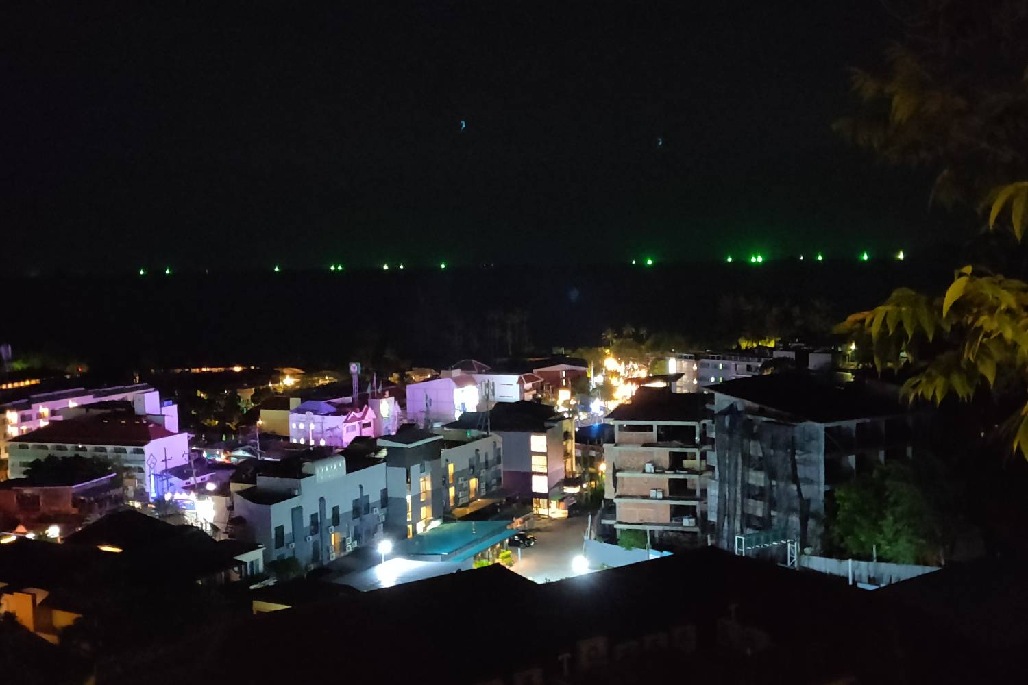 View from the Avani Superior Sea View Room in Ao Nang at night