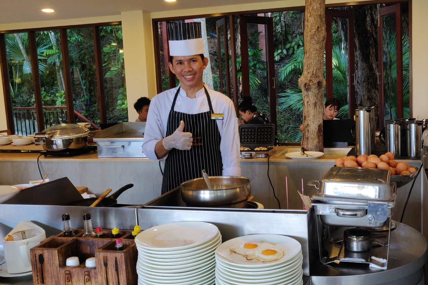 Egg station at the Avani Ao Nang Cliff Krabi Resort