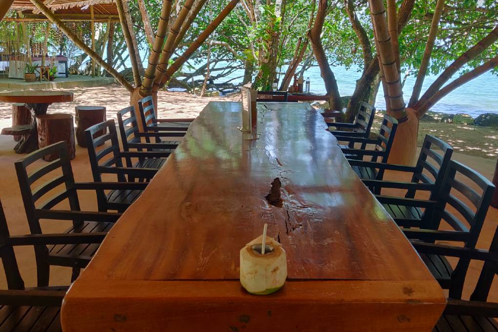 Fresh coconut in the Massaman beef at the Andaman Beach Club