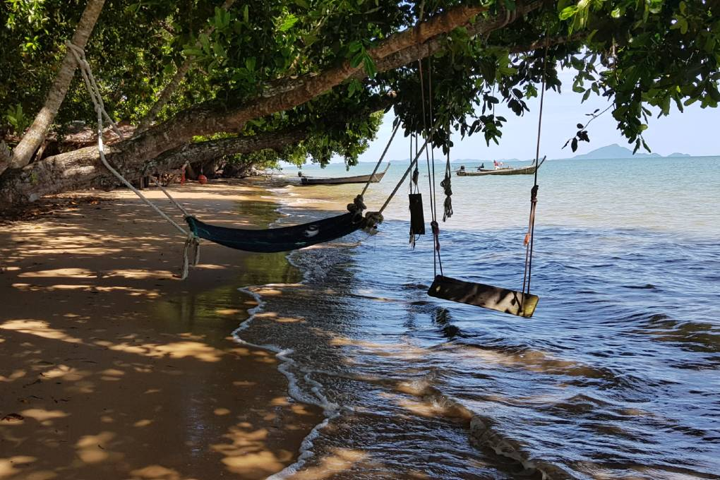Hammock and swings at the Massaman beef at the Andaman Beach Club