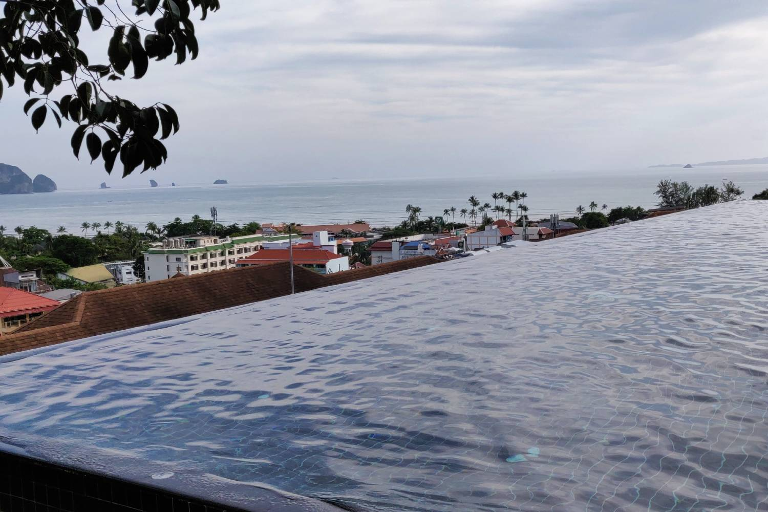 The infinity pool of the Avani Ao Nang Cliff Krabi Resort