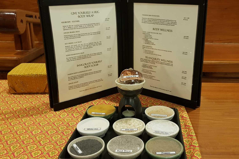 Spa opties van het Avani Ao Nang Cliff Krabi Resort