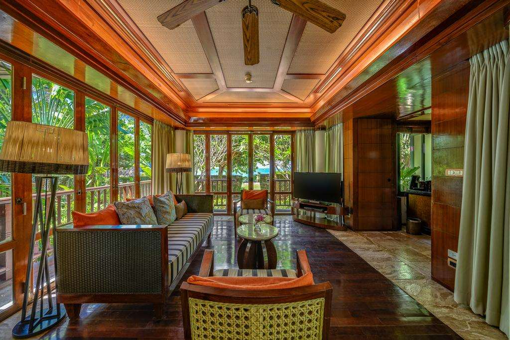 A living room at the Centara Grand Beach Resort & Villas (one of the best hotels in Ao Nang)