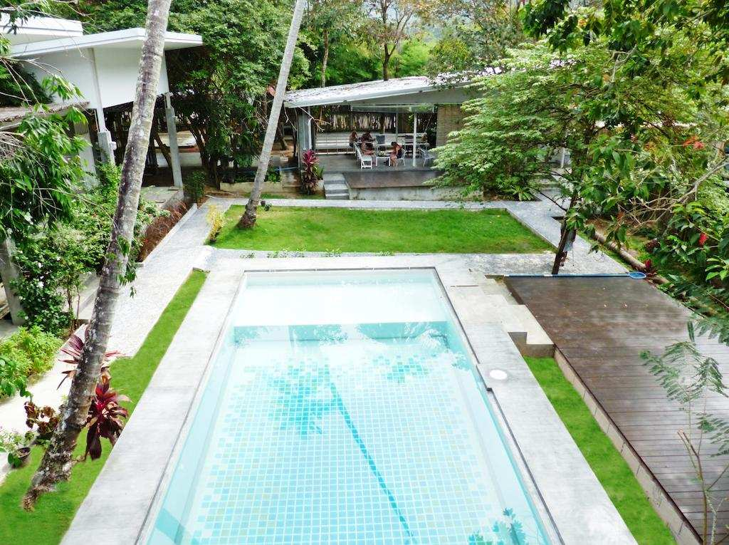 Swimming pool at Glur Hostel (one of the best hotels in Ao Nang)
