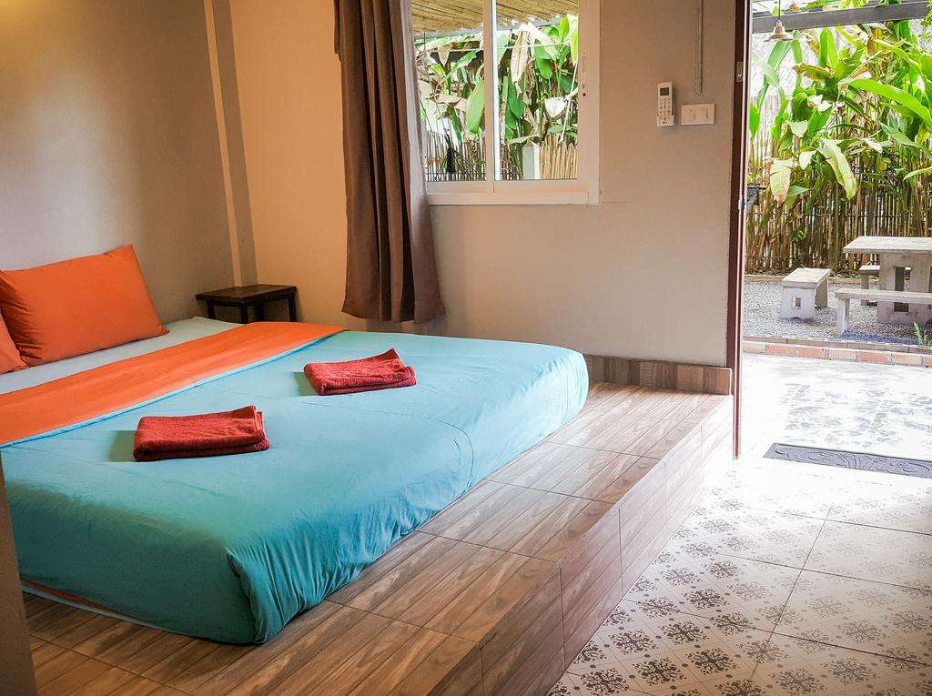 Double room at Glur Hostel (one of the best hotels in Ao Nang)