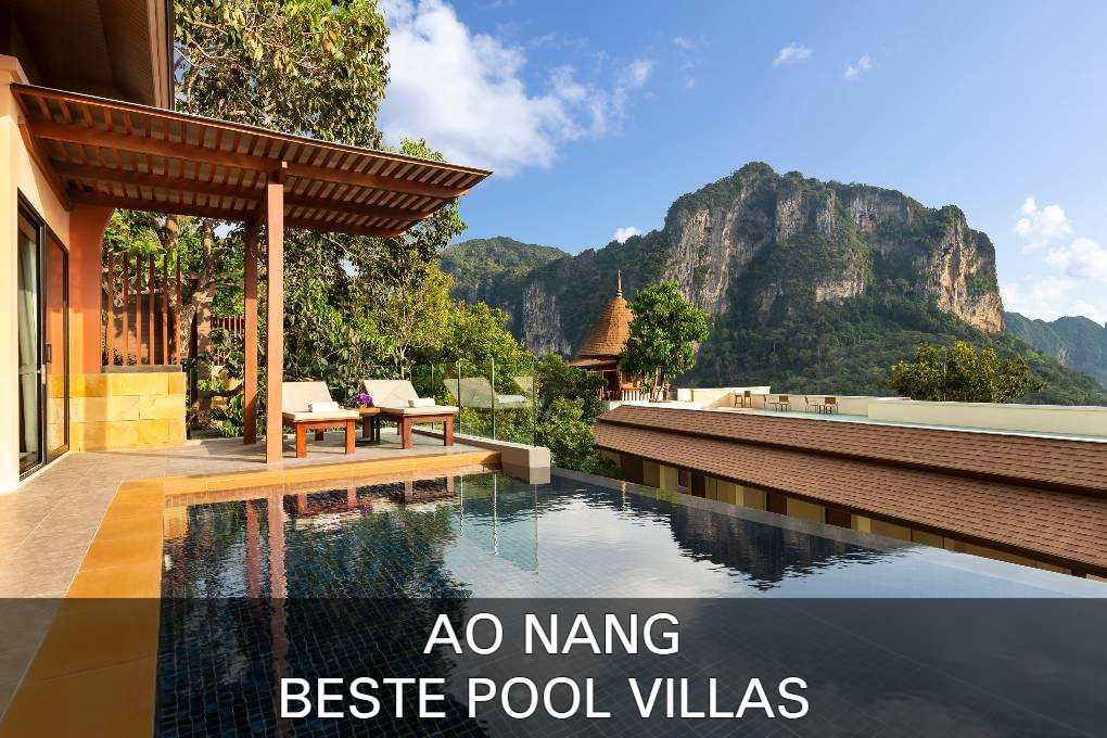 De beste pool villas van Ao Nang vind je hier