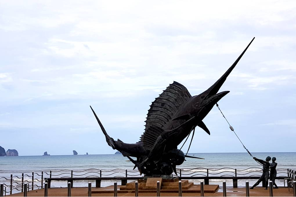 De merlin statue of Ao Nang
