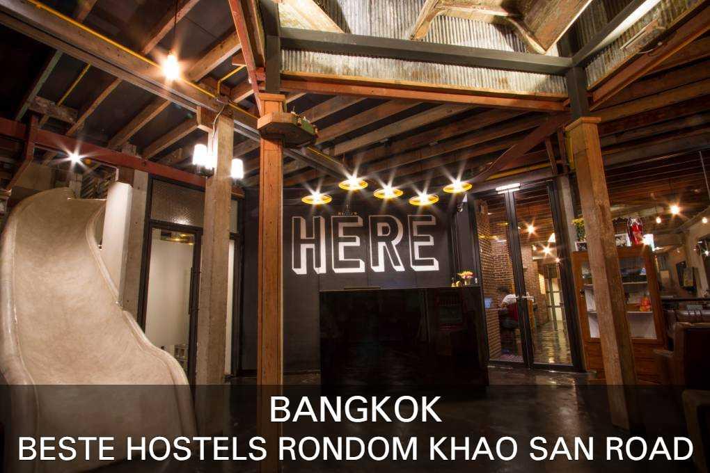 De beste hostels in de buurt van Khao San Road. lees hier waar je moet zijn!