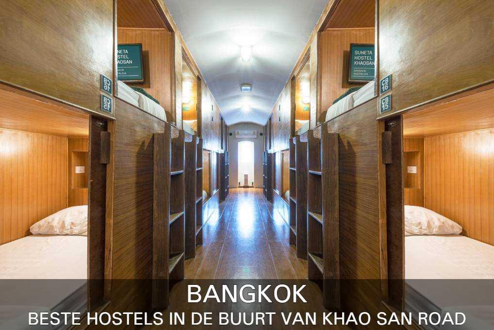 de beste hostels in de buurt van Khao San Road, vind je hier