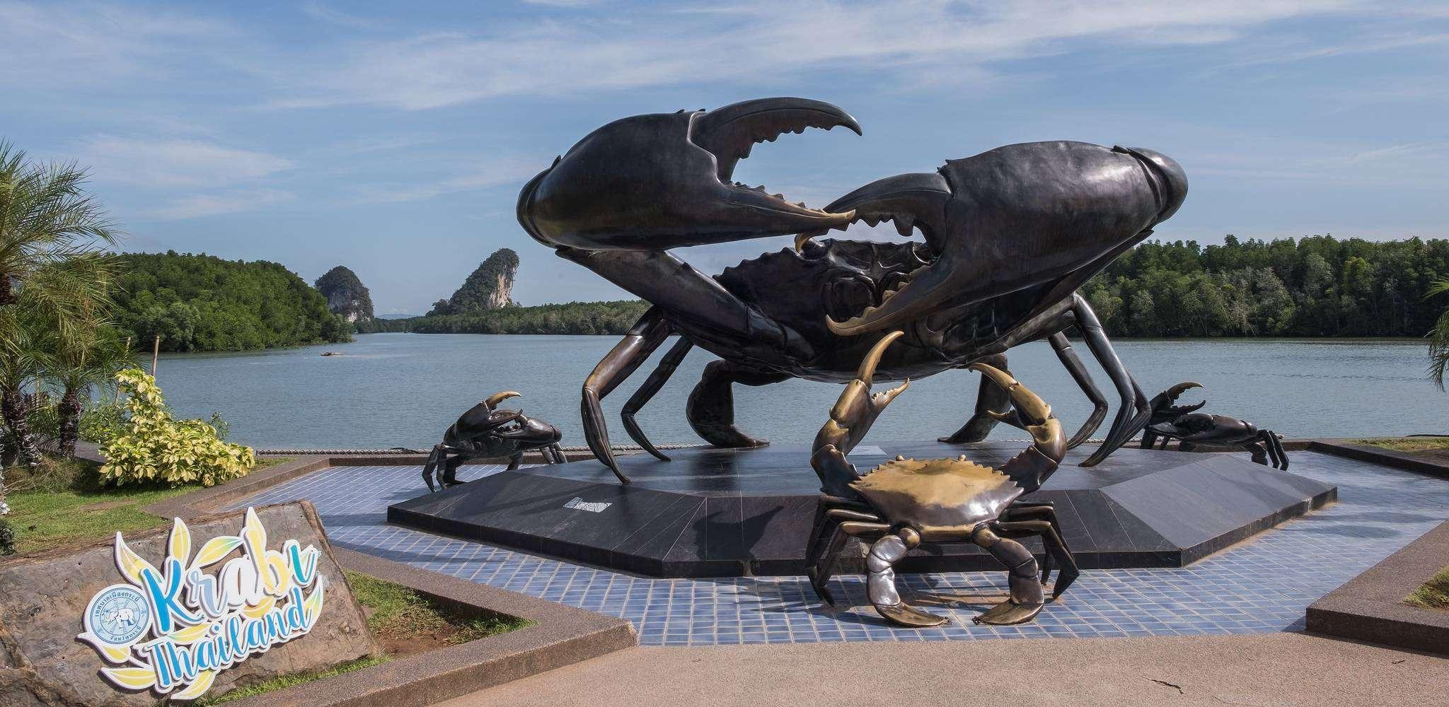 De Mud Crap Sculpture, het momunment van Krabi Town