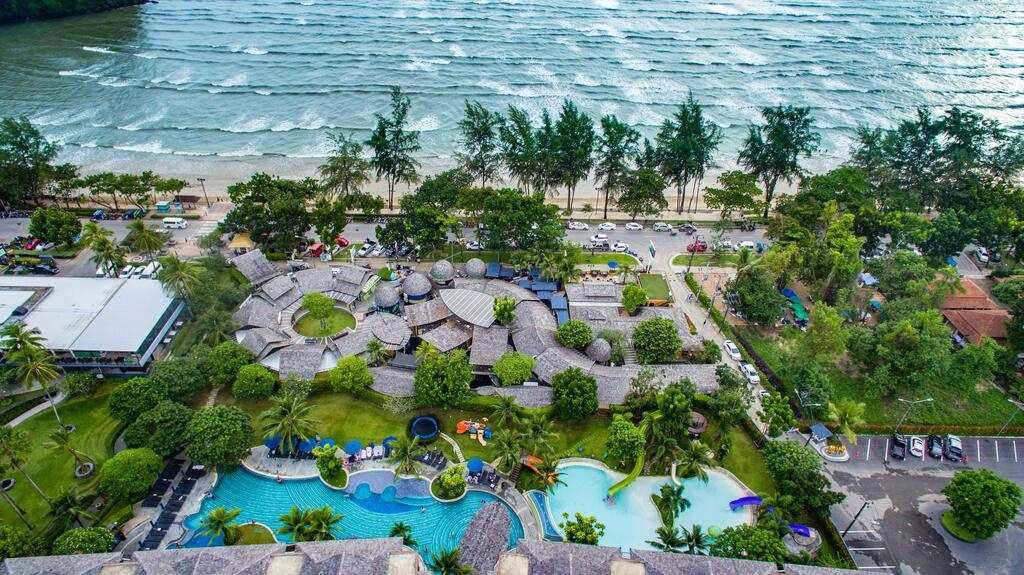 The Holiday Inn Resort Krabi Ao Nang Beach seen from above with a drone (one of the best hotels in Ao Nang)