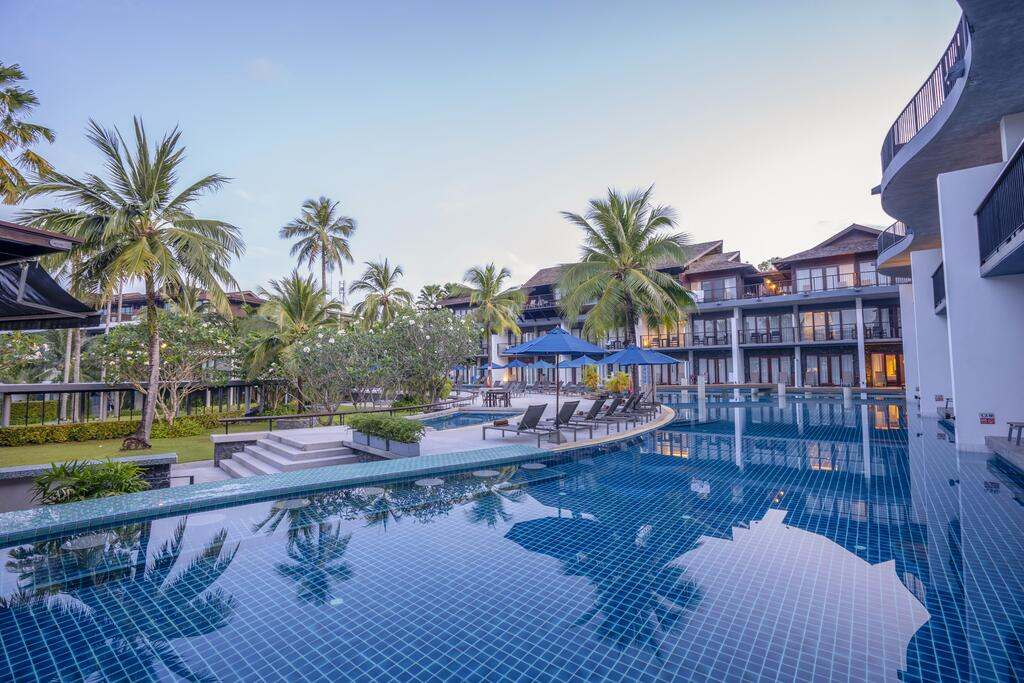 The pool area of the Holiday Inn Resort Krabi Ao Nang Beach (one of the best hotels in Ao Nang)