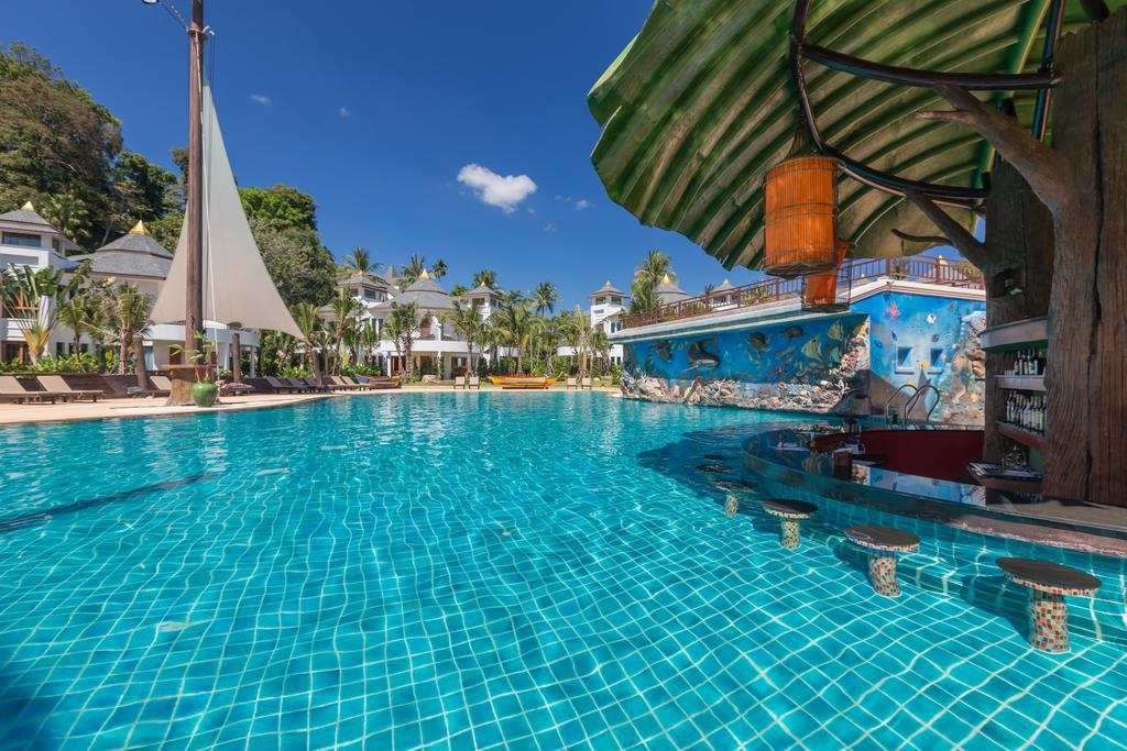 The swimming pool at the Krabi Resort (one of the best hotels in Ao Nang)